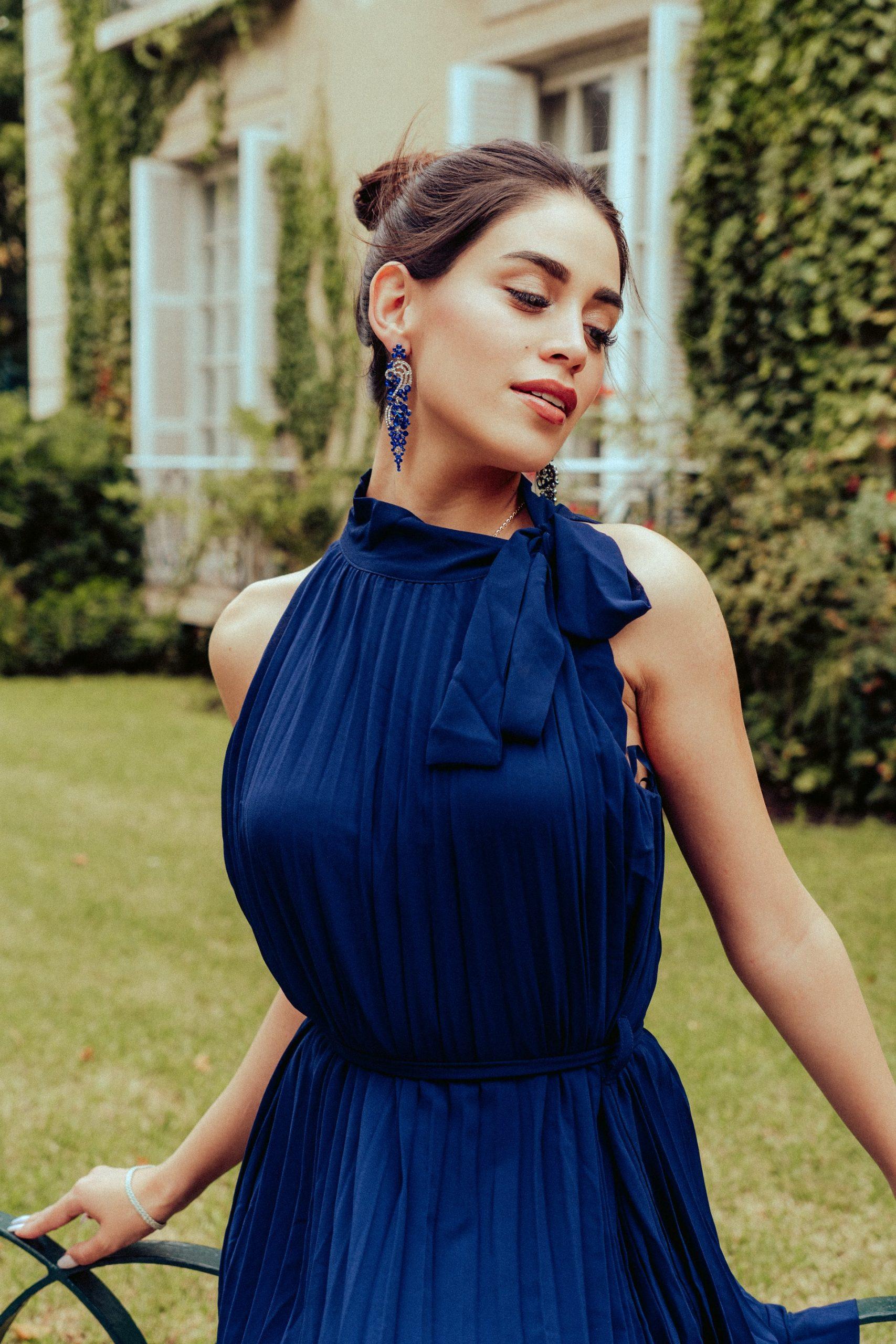 beautiful-woman-blue-dress